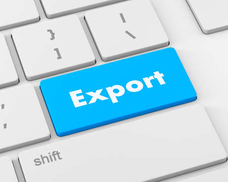 key handover: export computer keyboard key button, 3d rendering