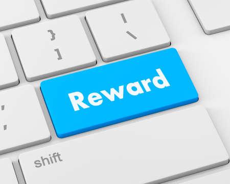 eminence: Rewards keyboard key, 3d rendering Stock Photo