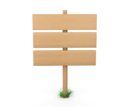 multidirectional: Wooden signs board for information and advertising. 3d rendering