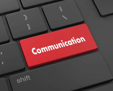 cabel: Text communication button, 3d rendering