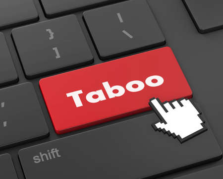 taboo: Text taboo button, 3d rendering Stock Photo