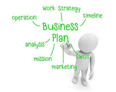 business plan text business man writing business plan concept