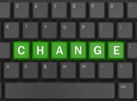better chances: Text change button, 3d rendering Stock Photo