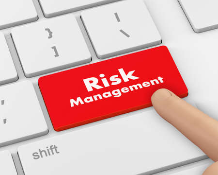 minimization: Risk Management Button on Computer Keyboard. Business Concept, 3d rendering Stock Photo