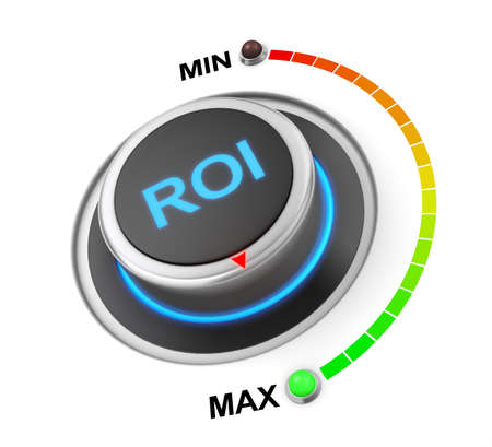 ROI button position. Concept image for illustration of ROI in the highest position , 3d rendering