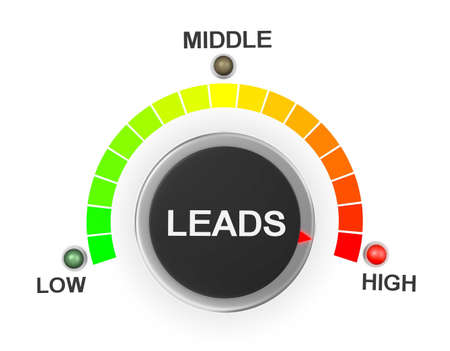 lead: leads button position. Concept image for illustration of leads in the highest position , 3d rendering