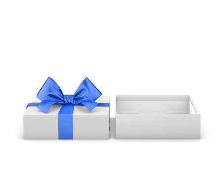 new years day: gift box for Christmas, New Years Day ,Open red gift box white background 3d rendering Stock Photo
