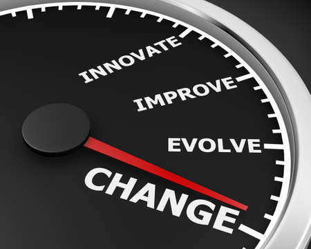 involve: Change Innovate Improve Involve Speedometer 3d Illustration rendering Stock Photo