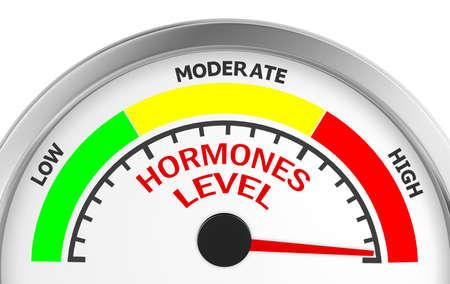 hormonas: nivel de hormonas para medir conceptual máxima, la representación 3d Foto de archivo