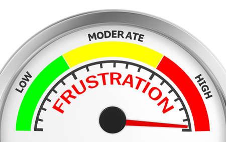 enfado: nivel de frustración para medir conceptual máxima, la representación 3d