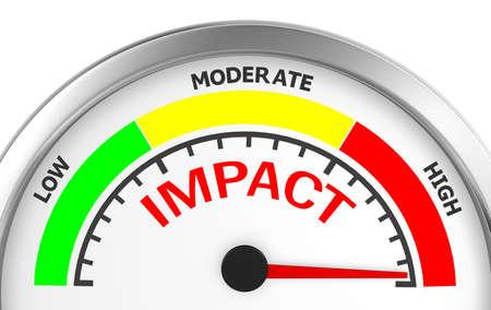 impact in the highest position meter, 3d rendering