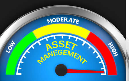 maximum: asset management level to maximum conceptual meter, 3d rendering