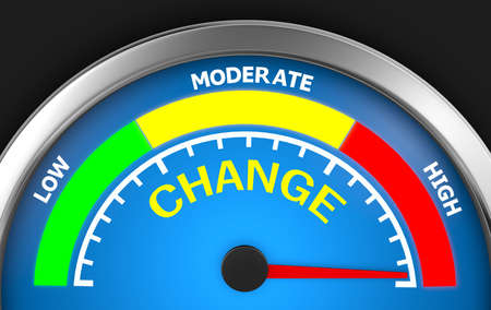 maximum: Change level to maximum modern conceptual meter 3d rendering Stock Photo