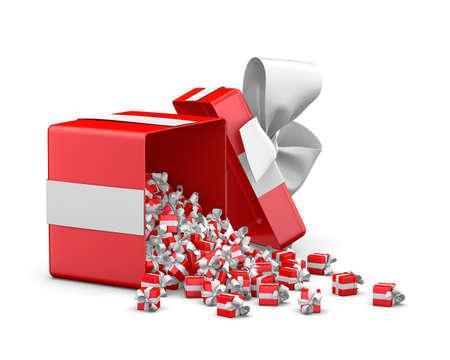 Frohe Weihnachten Neujahr Open Geschenk Box Emittierende Kleine
