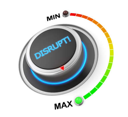 upheaval: Disrupt button position 3d rendering