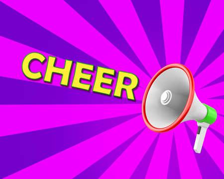 survives: Megaphone-Cheer illustration 3d rendering