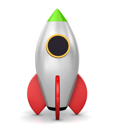 Startup concept.  a rocket is strat up symbol, 3d rendering Stock Photo