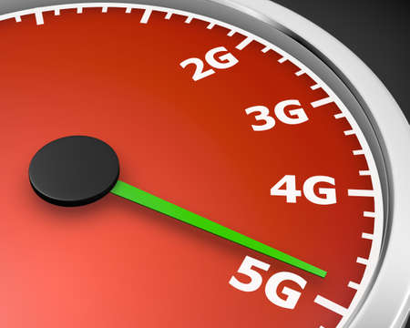 3g: Wireless network speed. 5G high speed internet concept. 3d rendering
