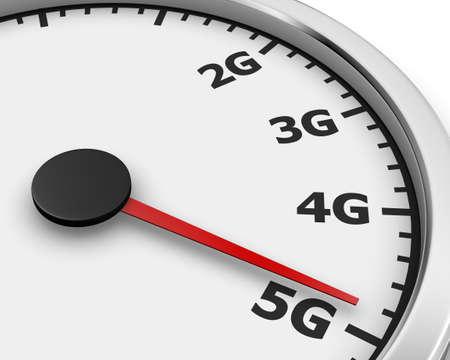 high speed: Wireless network speed. 5G high speed internet concept. 3d rendering