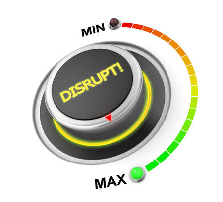 disrupt: Disrupt button position 3d rendering