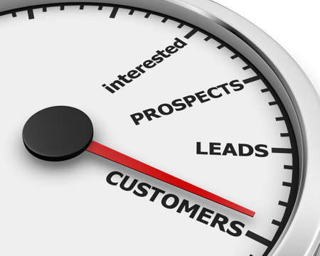 converting: Illustration of internet marketing customers meter 3d rendering