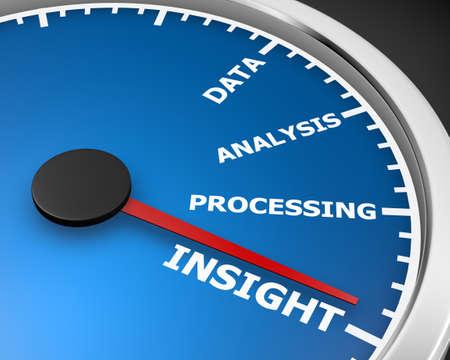 rating gauge: Insight Analysis Information Data Perspective Speedometer 3d rendering