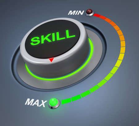 skill button position 3d rendering