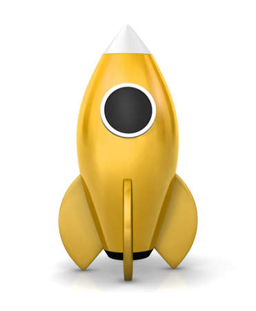 strat: Startup concept.  a rocket is strat up symbol, 3d rendering Stock Photo