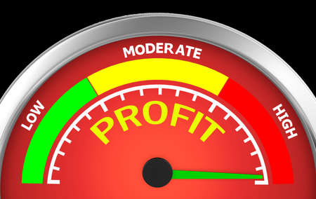 profit conceptual meter, 3d rendering