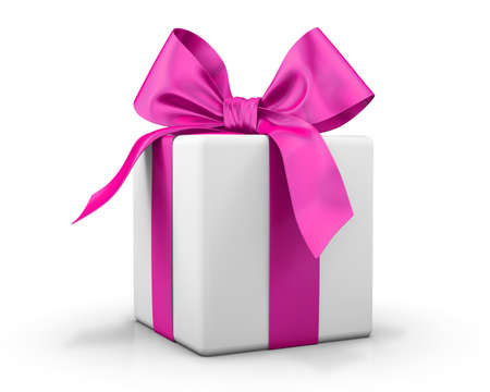 pink gift box Valentine day concept 3d  rendering