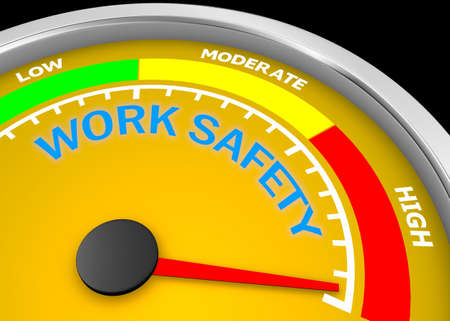 work safety level to maximum conceptual meter, 3d rendering