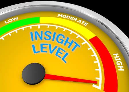 insight  level to maximum conceptual meter, 3d rendering