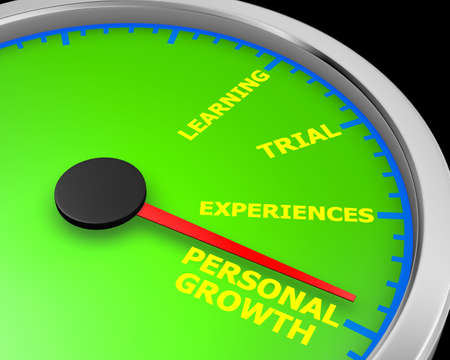 Personal Growth Leave Your Comfort Zone Speedometer 3d rendering