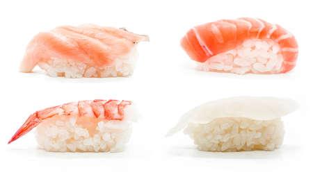 susi: Sushi set in white background