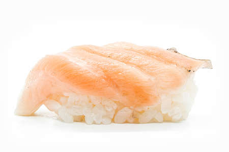 Japanese cuisine. sushi nigiri isolated on white background.