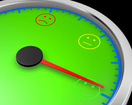 happiness level conceptual meter, 3d rendering Stock Photo
