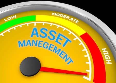 asset management level to maximum conceptual meter, 3d rendering