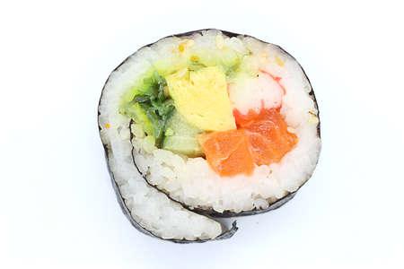 close up of sushi rolls