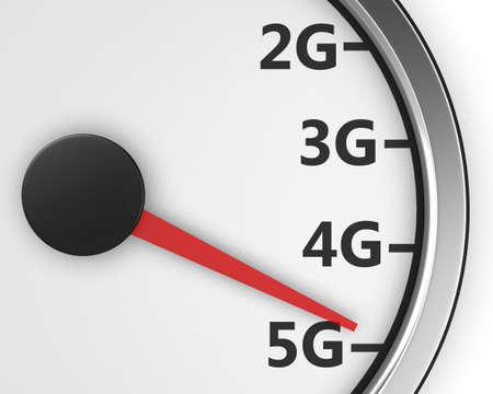 high speed internet: Wireless network speed. 5G high speed internet concept. 3d rendering