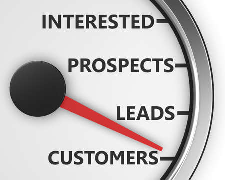 qualify: Illustration of internet marketing customers meter 3d rendering