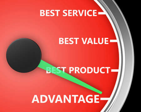 利点より良い製品サービス価格計 3 d イラスト描画 写真素材 - 80179970