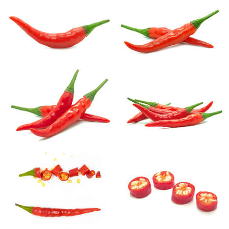 red chili isolated on white background