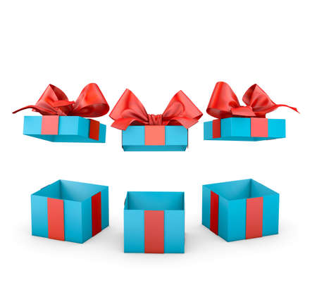 set of gift box isolated for Christmas, New Years Day ,3d rendering