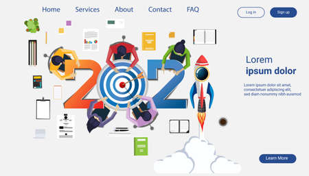 Creative business thinking 2021,darts shoot Into crotch for success,set icon, Idea concept vector illustration Infographic template. Illustration