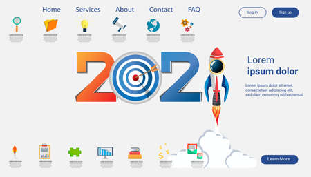 Creative business thinking 2021,darts shoot Into crotch for success,set icon, Idea concept vector illustration Infographic template.