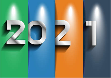 Label 2021 text  - modern Idea and Concept Vector illustration.