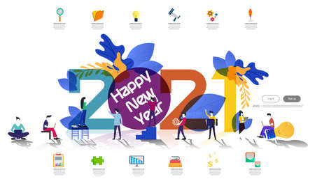 Vector illustration modern design business plan brainstorm think analyze creative  idea concept with marketing strategy 2021 new year  Infographic template.