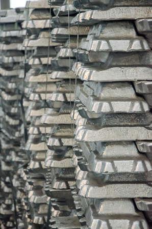 silver ingots: Aluminium Ingots Stock Photo