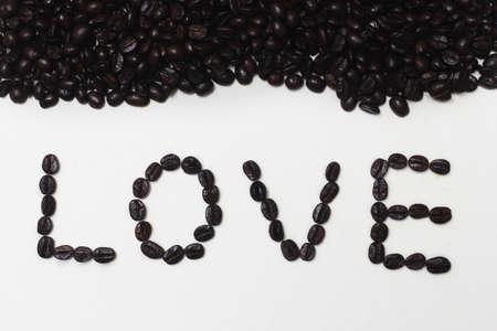 love pic: love coffee beans Stock Photo