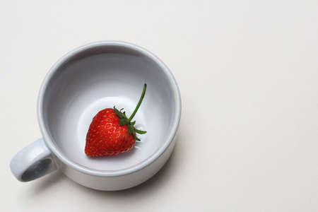 strawberry in cup photo